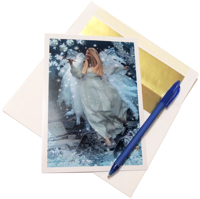 Frost Faerie Greeting Card