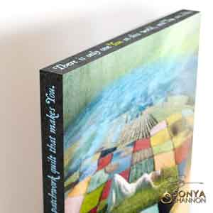 Sonya Shannon Patchwork Earth Canvas Wrap