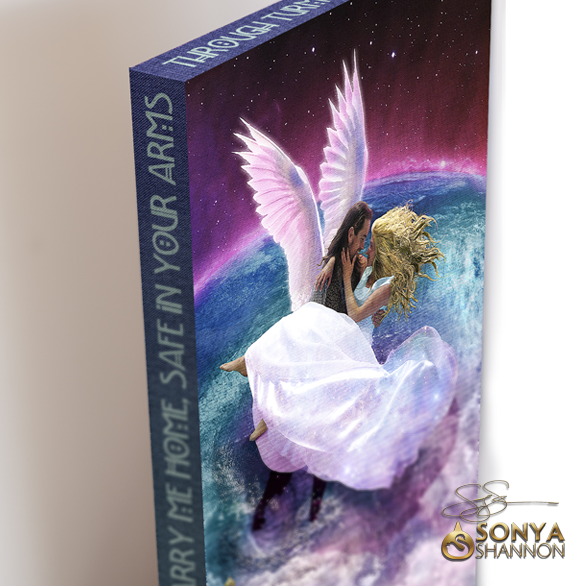 Cross the Difficult Ocean Canvas Wrap by Sonya Shannon
